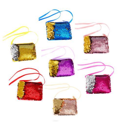 fashion baby sequins coin purse change wallet change kids pouch glittering zipper clutch bags satchel (542007182) photo