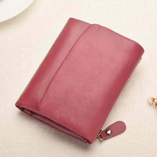 trend women wallets genuine leather wallet coin purse girl card holder female short clutch bags carteira coin purse feminina sac (536680167) photo