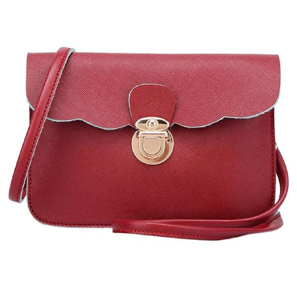 fashion women's pu leather shoulder bag clutch handbag tote purse hobo messenger (486728994) photo