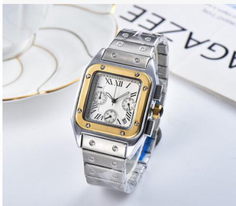 2019 Новый Кварцевый хронограф мужские часы серебряный корпус 40 мм белый циферблат фото