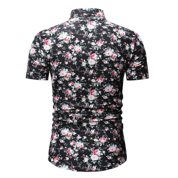 men long sleeve printing shirt men new floral casual shirt tops