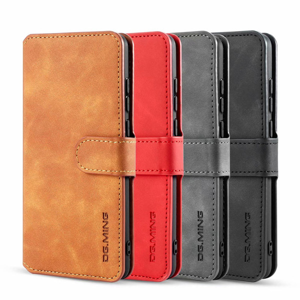 Dg ming leather wallet ca efor huawei y5 y6 y7 y9 2019 p20 p30 mate 20 pro vintage oil flip cover card  lot id  tand  trap