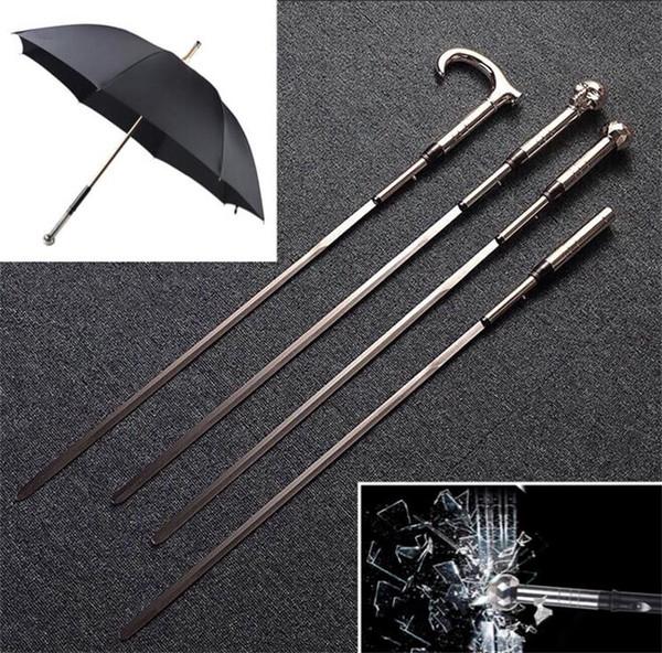Four tyle metal word umbrella elf defen e long handle umbrella creative word male umbrella gift collection