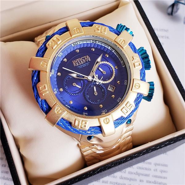 Brietling luxury INVICTA mens watches quartz watch famous brand fashion 316 fine steel waterproof watch 3a quality