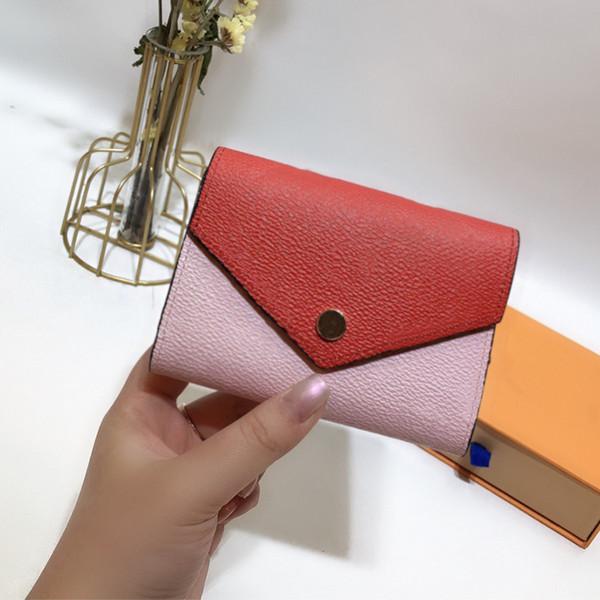 classic designer flowers portefeuilles purse real leather wallet couleur contrastée (475518696) photo