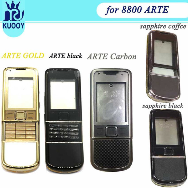 Full hou ing for nokia 8800 arte carbon 8800 arte  apphire middle frame plate back battery cover with keyboard