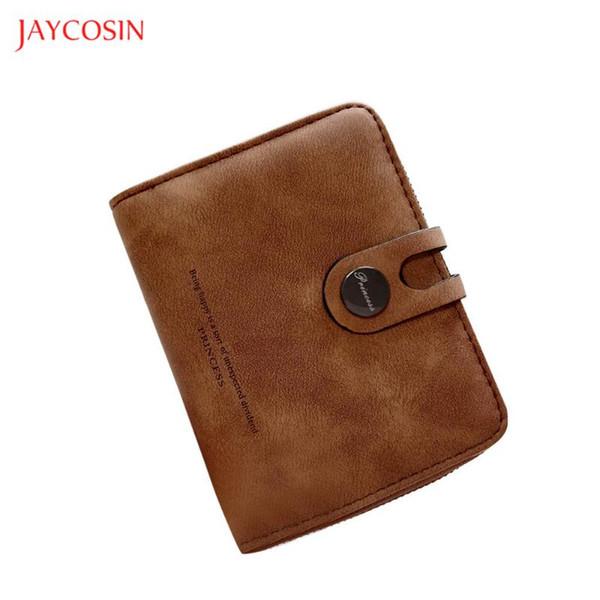 jaycosin donna breve portafogli in pelle solido hasp coin purse clutch handbag carta multifunzione photo titolare dei raccoglitori delle don (530126517) photo