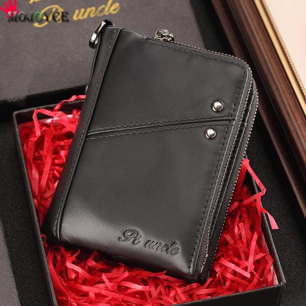 genuine leather short bifold wallet men casual short paragraph purses real cowhide wallets fashion vintage purses (547977671) photo