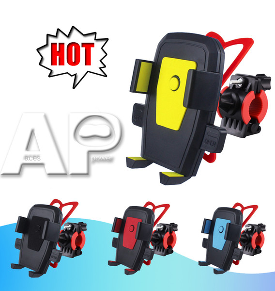 Mix colour bike holder bicycle ca e for mobile phone travel  tand univer al acce  ory pla tic  upport with 360 degree rotation for cellphone