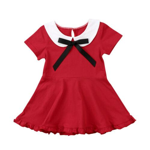 Toddler Kids Newborn Baby Bibs Girls Lovely Cute Solid Bow Summer Dress Sleeve Party Pageant Children Clothing Dresses Toddler Kids Newborn Baby Bibs Girls Lovely Cute Solid Bow Summer Dress Sleeve Party Pageant Children Clothing Dresses