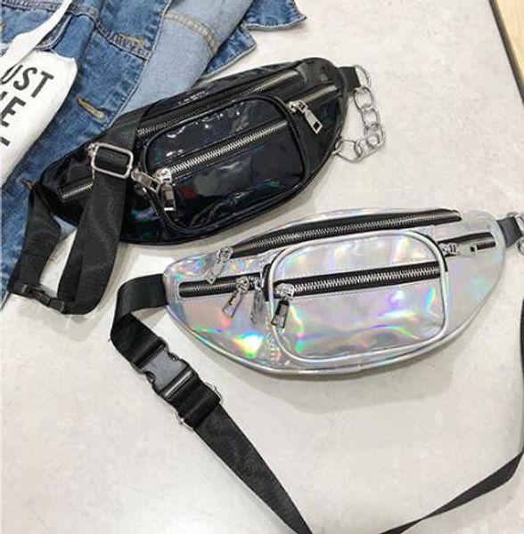 wholesale handbags purses wholesale women waist bag new fashion crossbody bag laser shoulder bags (546345705) photo