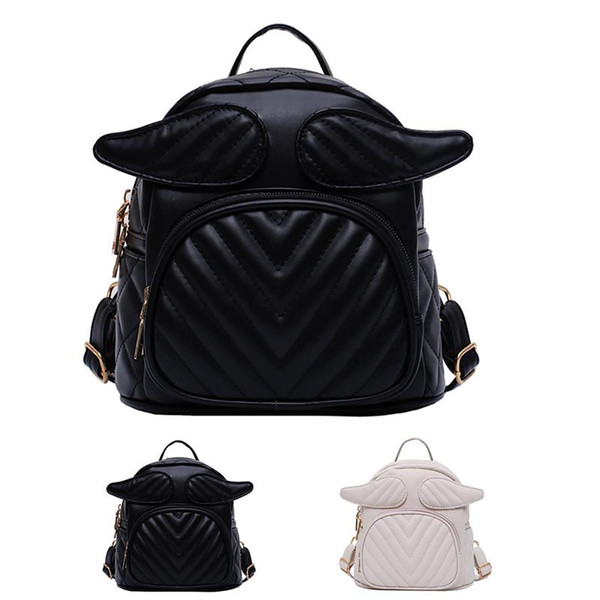 womens backpack purse fashion cute angel wings small backpack mini (509589357) photo