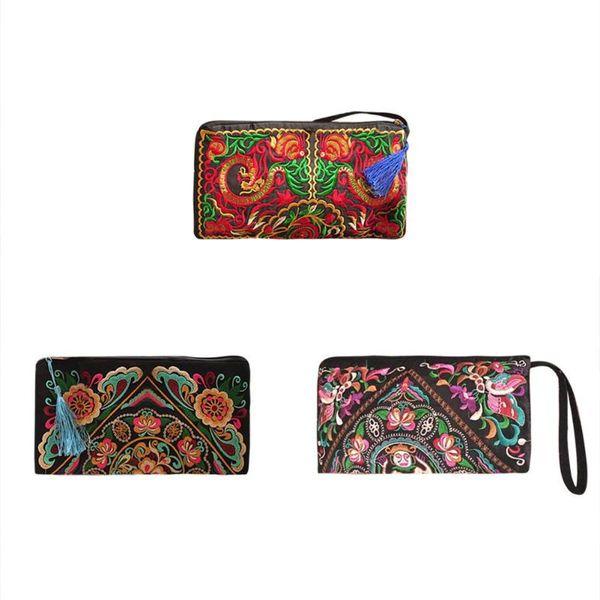 mode stickerei frauen-handtasche-ethnische art-troddel-handtaschen retro purse (510284710) photo