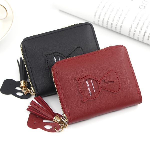 short women's purse women's handbag embroidered purse with zipper little girl's change bag card holder (536383781) photo