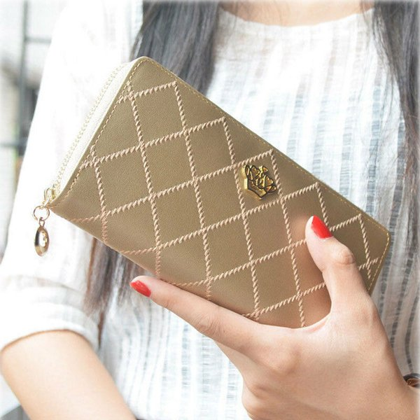new fashion women lady pu leather clutch wallet pretty long card holder purse handbag zipper evening bag (520808373) photo