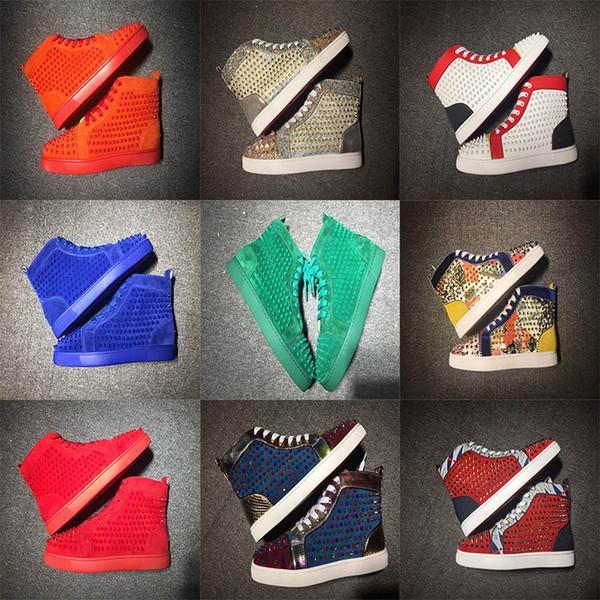 2020 Новый Red Bottoms Обувь Для мужчин Для женщин Дизайнерские обувь Spike замша кожа платформы Red Bottom Fashion Luxury Casual Дизайнерские кроссовки фото