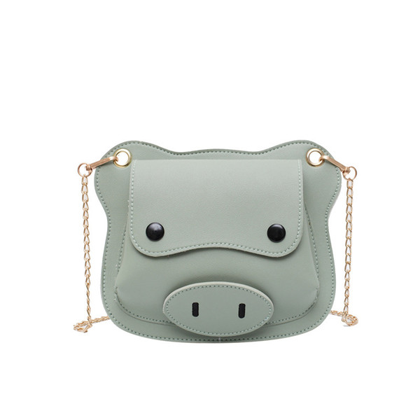 unique summer cartoon pig women leather messenger bag small chain crossbody shoulder bag handbag purses (539588787) photo