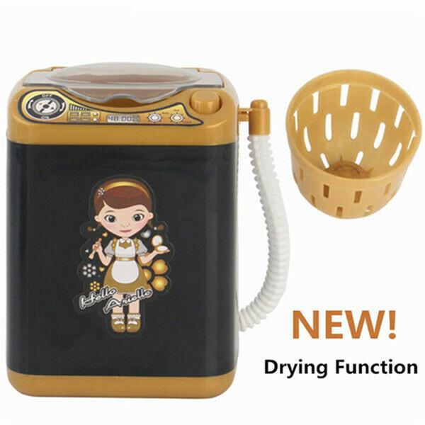 2020 Мини-симуляция Дети Play Притворись Electric Cute Cosmetic Powder Puff Стиральная машина щетки Очиститель Стиральная машина инструмент фото