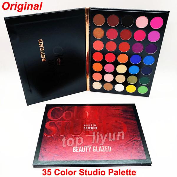 2019 beauty glazed eye hadow palette 35 color eye hadow himmer matte makeup eye hadow color tudio palette brand co metic hipping