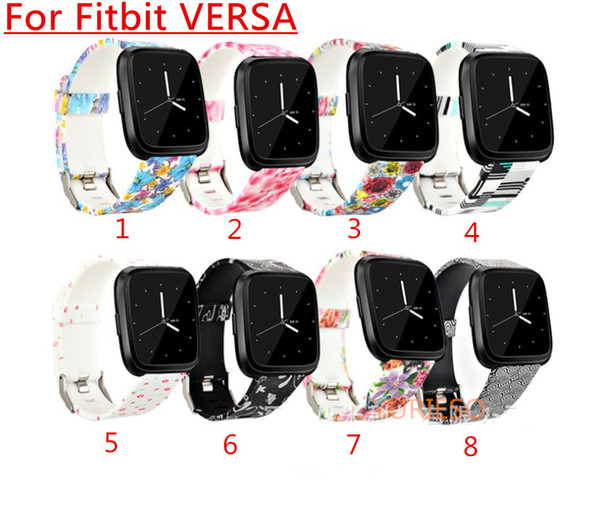 New arrival pattern  for fitbit ver a wri tband wri t  trap  mart watch band  trap  oft watchband replacement printing  martwatch band