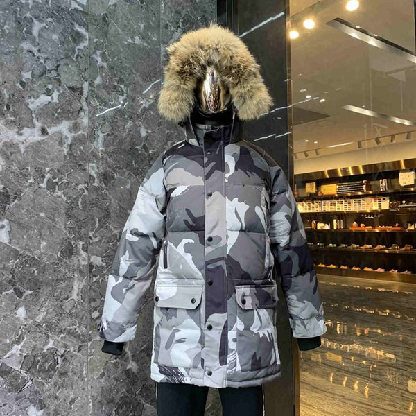 2020 30# goose with real wolf fur down coatman new arrival sale men guse chateau black down jacket winter coat parka фото