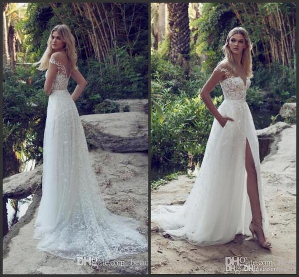 Vestidos de casamento alinhado angelababydresses