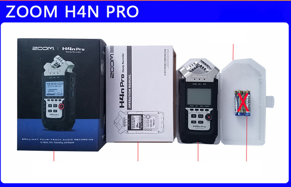 Zoom h4n upgrade h4n pro profe ional handheld digital recorder four track portable recorder h4npro recording pen