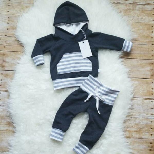 toddler boy 2019 newborn infant baby boy clothes hooded  sweatshirt pant stripe legging outfit autumn clothes 2pcs