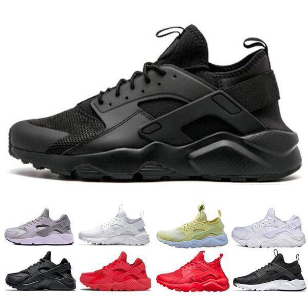 Nike air huarache Бросился Huarache ультра кроссовки тройной белый черный красный Мужчины Же фото