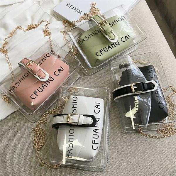 2019 fashion crossbody bag for women pvc clear mini cute shoulder bag elegant ladies tote jelly girl purses and handbags (514788631) photo