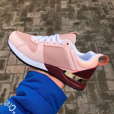 Новые женские кожаные спортивные повседневные туфли на плоской подошве кроссовк фото