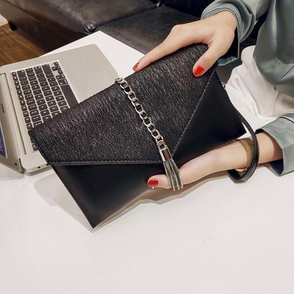 purse female clutch 2020 new fashion mass tassels clutch bag (547840557) photo
