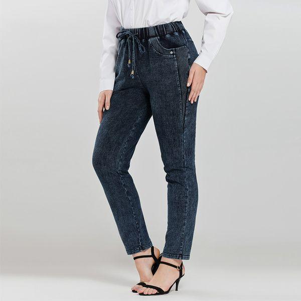 AprilGrass бренд дизайнер женские плюс размер повседневные джинсы высокая гибкость трикотажные джинсовые джинсы фото