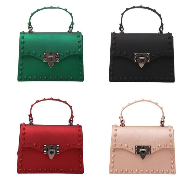 small rivets handbag women crossbody messenger purses leather shoulder bag (510285612) photo