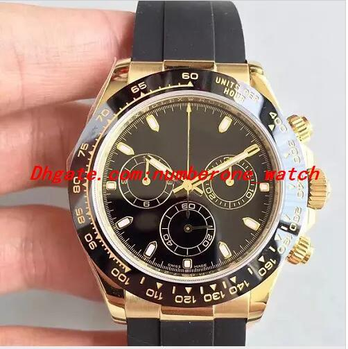 4  tyle booking j h 904l  teel cal 4130 chronograph run 40mm men  116515ln automatic rubber waterproof watche  date men watch