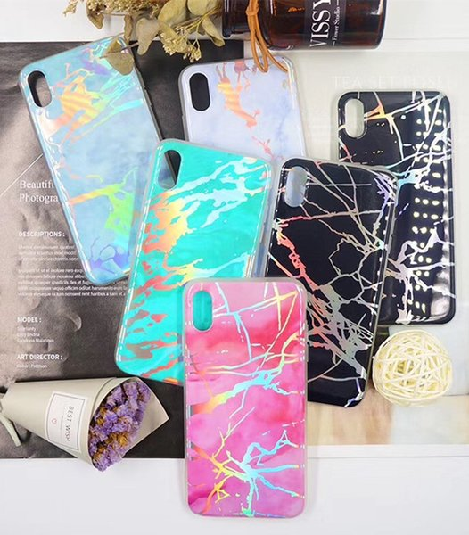 Imd marble phone ca e la er painted  mooth back cover fa hion tpu pc protector for iphone x x  xr x  max 6 6  7 7p 8 8plu