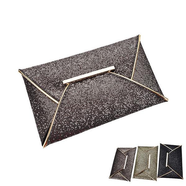 1pcs ladies evening party sequins envelope bag purse clutch handbag (531607552) photo
