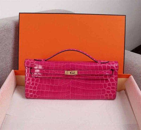 designer luxury handbag purse alligator pattern women designer bags ladies purse real leather designer purse bag (500039322) photo
