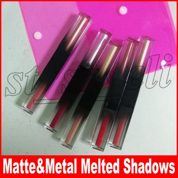 New beauty makeup glitter himmer matte metal liquid eye hadow eye hadow liquid 5pc et eye hadow kit melted hadow