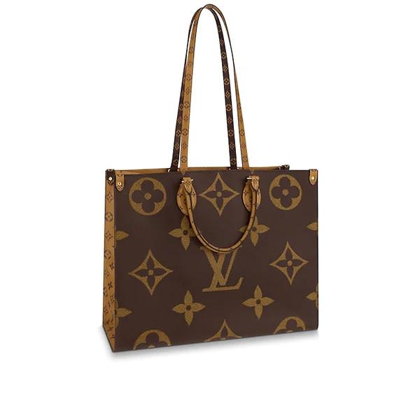 2019 new high quality M44576 fashion luxury women's leather Designer ONTHEGO handbag Ladies Tote Bag Shoulder bag brown free shipping