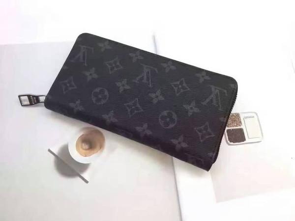 classic men brand long wallet zipper clutch purse card wallets purse mini clutches exotics evening chain belt bags (507404520) photo