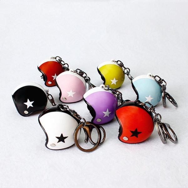 Новый автомобильный брелок, Мото брелок, мини мотоциклетный шлем модель брелок для автомобильных ключей кольцо случайный цвет фото