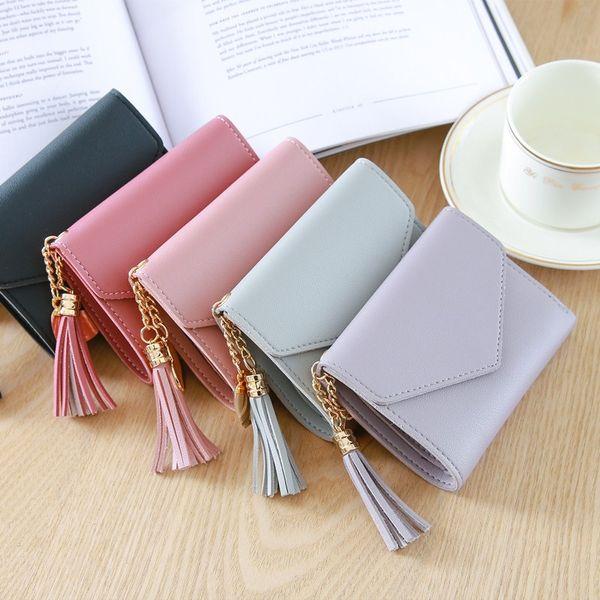 short wallet women fashion tassel purse female mini wallets korean students lovely purse female small wallet coin purse (513147427) photo