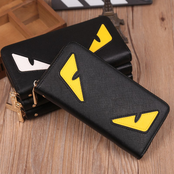 wholesale little monster wallets pu leather fashion cross-wallet designer credit card cellphone purses 3 colors sale (504902795) photo