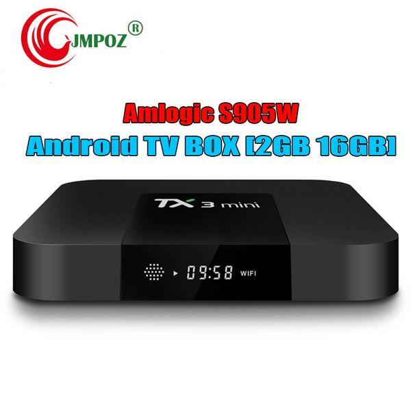 1 КУСОК!! TX3 Mini Amlogic S905W Android 7.1 ТВ-КОРОБКА 2 ГБ 16 ГБ Четырехъядерный процессор 2.4 Г Wi-Fi 4
