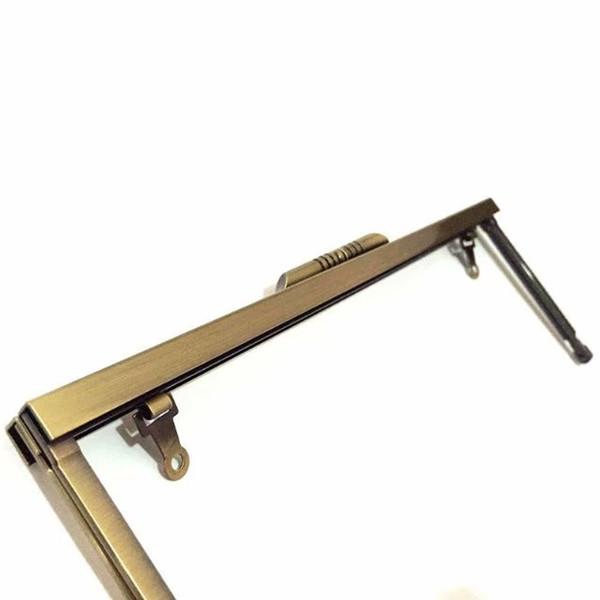 8 '' x 3'' bronze metal clutch purse frames - set of 12 nickel pures frame/ purse handles (462958346) photo