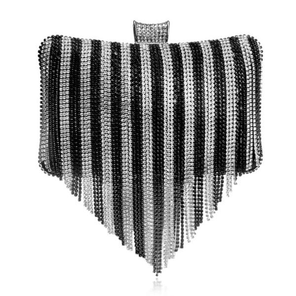 women tassels clutches metallic diamonds evening purses (475501282) photo