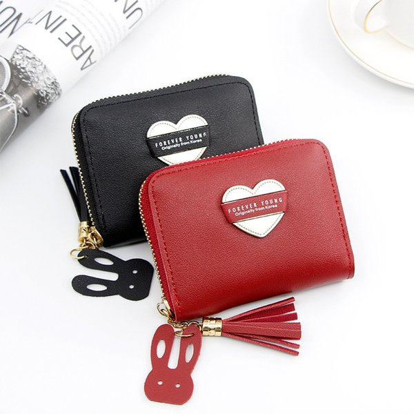 women's wallet short cartoon sweet love big capacity little girl zipper bag fashion purse (480824583) photo