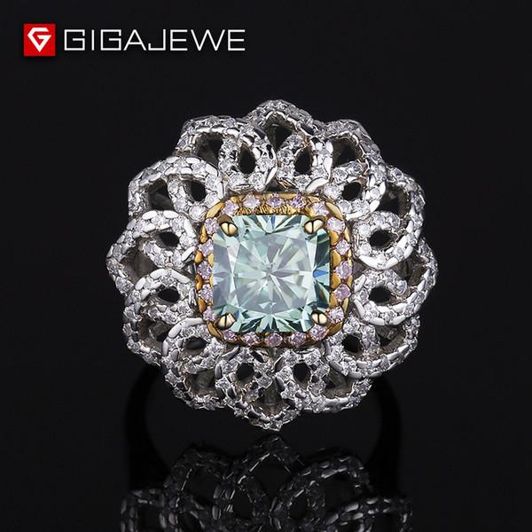 Подушка вырезать муассанит кольцо вечность 925 серебряное обручальное кольцо 2.5 карат подушка вырезать муассанит подлинной алмазов нетронутой пользовательские Бесплатная доставка