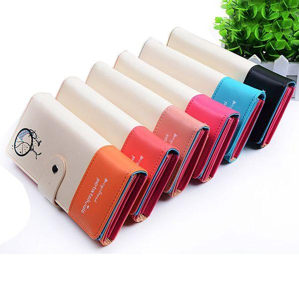 fashion design lady women wallet pu leather purse clutch long bicycle pattern zip card holder ka-best (466237747) photo